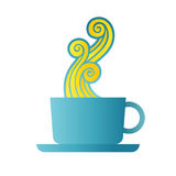 Coffee Steam. Vector cartoon illustration of coffee with steam design element Stock Image