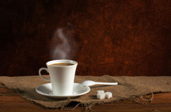 Coffee with steam Royalty Free Stock Images