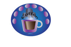 Coffee-sticker Stock Images
