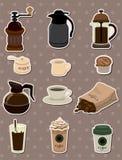 Coffee stickers Stock Photo