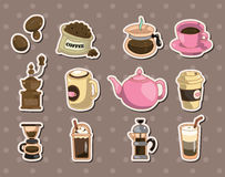 Coffee stickers Royalty Free Stock Images