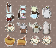 Coffee stickers Stock Photography