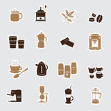 Coffee stickers eps10 Stock Images