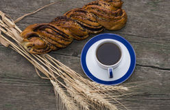 Coffee still life, boluchka with a linking of wheat Stock Photo