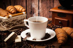 Coffee still life with cup of coffee Royalty Free Stock Photos