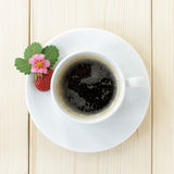 Coffee with strawberries Stock Image
