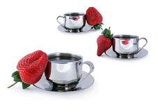 Coffee and Strawberries Royalty Free Stock Photo