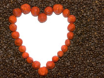 Coffee & strawberry Stock Image