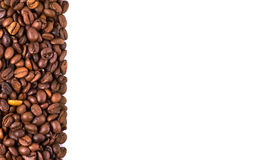 Coffee Stripe. Coffee beans stripes isolated in white background, with copyspace Royalty Free Stock Photo