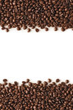 Coffee Stripes. Coffee beans stripes isolated in white background, with copyspace Stock Photos