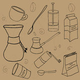 Coffee Stuff Set. Royalty Free Stock Photos