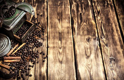 Coffee style. Old coffee grinder Royalty Free Stock Images