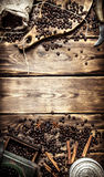 Coffee style. Old coffee grinder Stock Photography