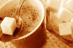 Coffee and sugar stock photos