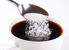 Coffee with sugar Royalty Free Stock Image