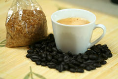 Coffee and sugar Stock Images