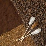 Coffee and sugar Royalty Free Stock Photos