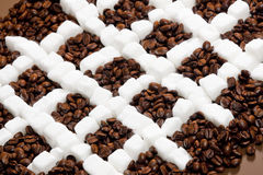 Coffee and sugar Royalty Free Stock Image