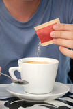 Coffee with Sugar Royalty Free Stock Photography