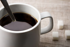 Coffee and Sugar Stock Photo