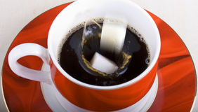 Coffee and sugar Stock Photography