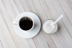 Coffee and Sugar Bowl Stock Photography