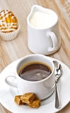 Coffee, sugar, and cakes Royalty Free Stock Images