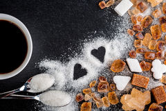 Coffee, sugar, caramel stock images