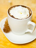 Coffee with sugar and cream Stock Images
