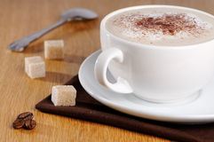 Coffee & Sugar Cubes Stock Images