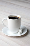 Coffee and Sugar Cubes Stock Photo