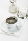 Coffee with sugar and milk Royalty Free Stock Images