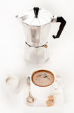 Coffee with sugar and milk Royalty Free Stock Photography