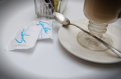 Coffee and Sugar on a Table Stock Images