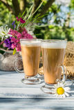 Coffee in the sunny summer garden Royalty Free Stock Photos