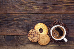 Coffee and sweet cookies Stock Image
