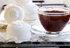 Coffee and sweet dessert Royalty Free Stock Photography