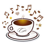 Coffee and sweet music Royalty Free Stock Image