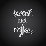 Coffee and sweet Royalty Free Stock Photos
