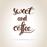 Coffee and sweet. Royalty Free Stock Image