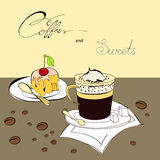 Coffee and sweets Royalty Free Stock Images