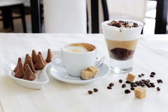 Coffee and sweets Royalty Free Stock Photography