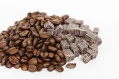 Coffee Sweets. A sweet mix of coffee and chocolate cubes Royalty Free Stock Photos