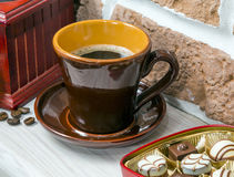 Coffee, sweets, coffee grinder. still life Stock Photo