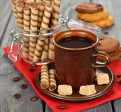 Coffee and sweets Stock Image