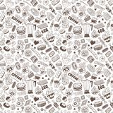 Coffee and sweets - seamless background Royalty Free Stock Image