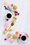 Coffee with sweets royalty free stock photo