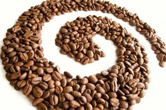Coffee swirl Stock Photos