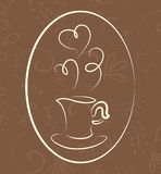 Coffee symbol Royalty Free Stock Photo