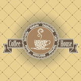Coffee symbol Royalty Free Stock Photos